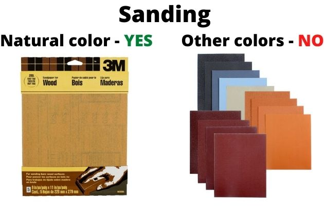 What is the right sandpaper to prepare wood for acrylic painting