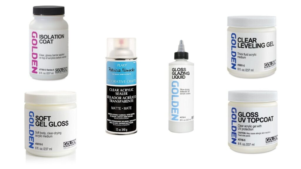 What can I use for an isolation coat on acrylic paint?