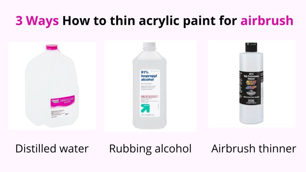 thin acrylic paint for airbrushing