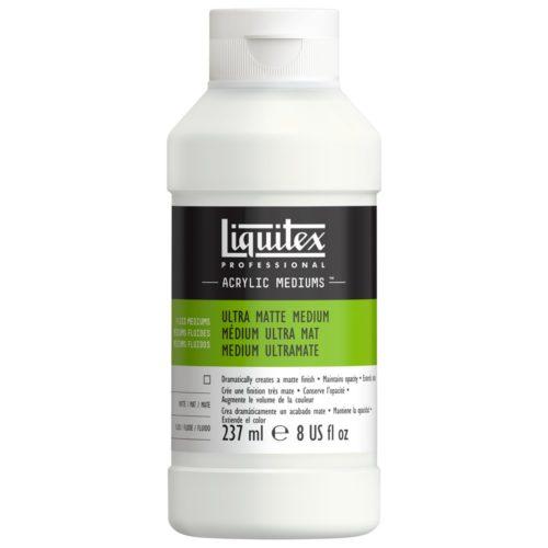 Liquitex Ultra Matte Medium to make acrylics more opaque