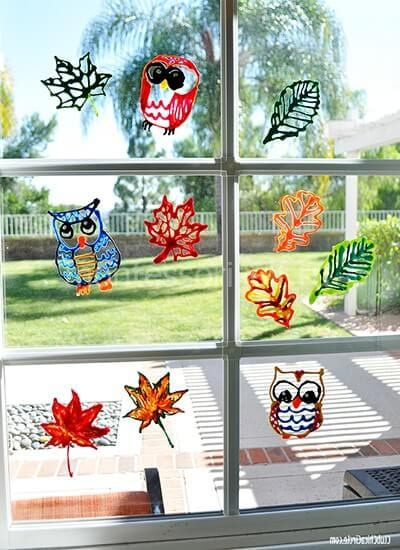 Acrylic paint for glass windows