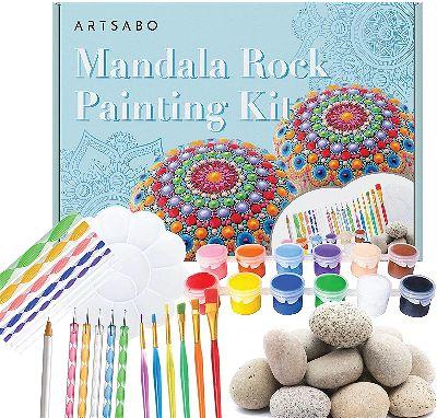 mandala rock painting kit
